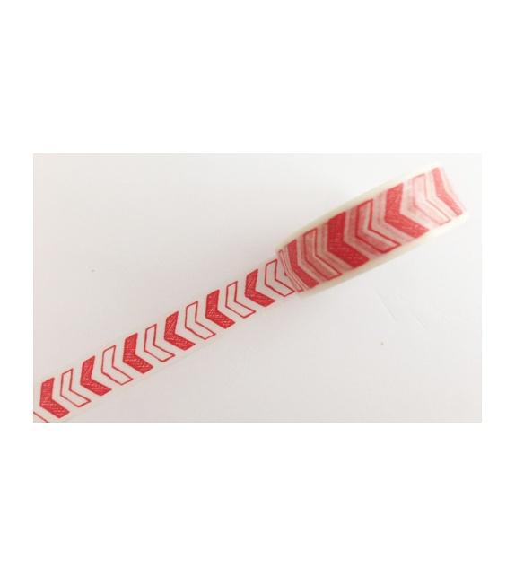 Masking Tape - chevron sketch rouge