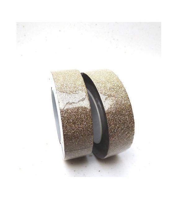 Masking Tape Paillettes - Or Pâle10 m