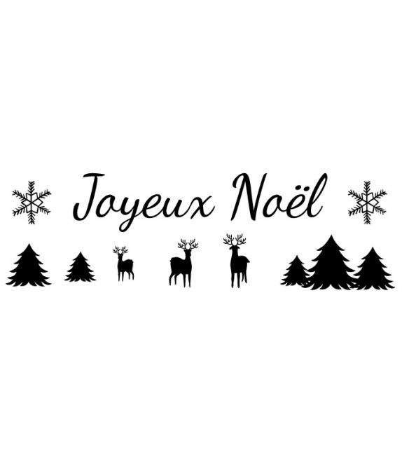 Tampon  - Noël - Joyeux Noël Rennes Sapins