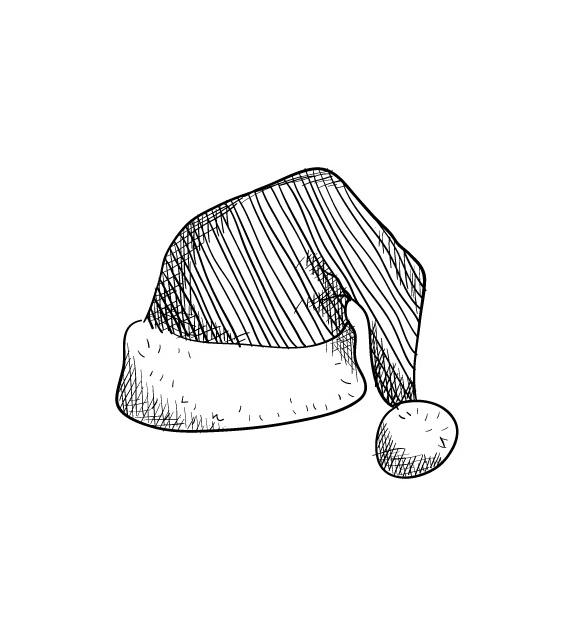 Tampon  - Noël - Bonnet de Père Noël