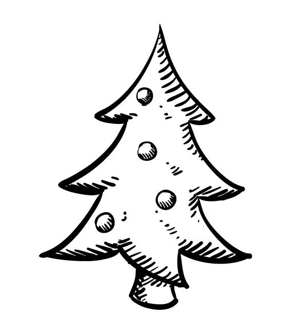 Tampon Noël - Sapin Noël