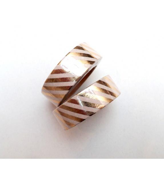 Solo Foil Tape - Bandes diagonales moyennes - or pâle