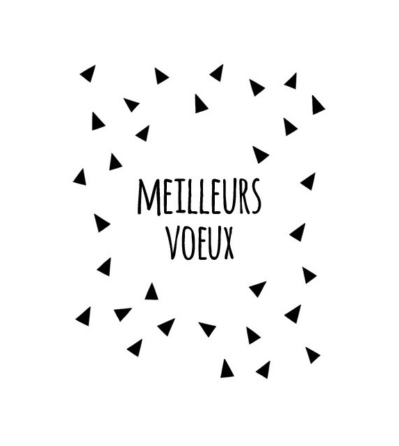 Tampon  - Meilleurs Voeux triangles