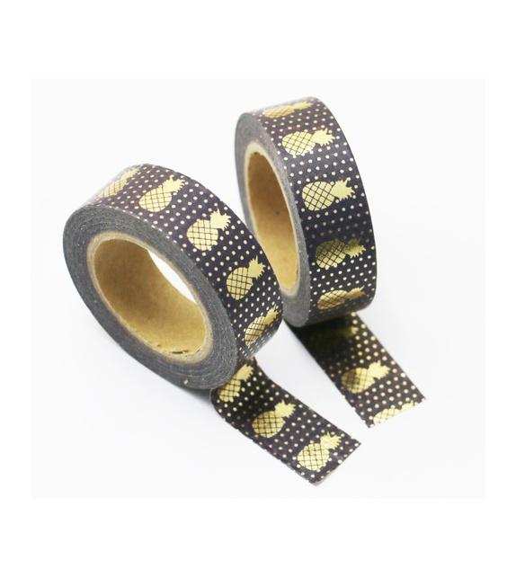 Masking Tape Foil Tape - Ananas or fond noir