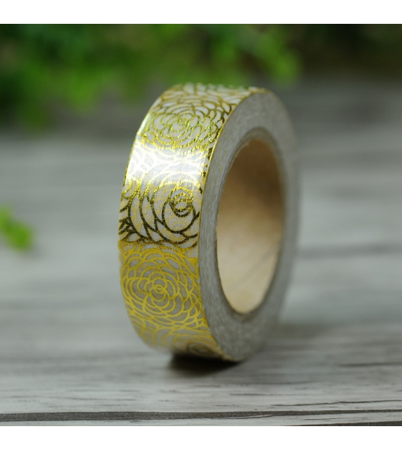 Solo Foil Tape - golden roses