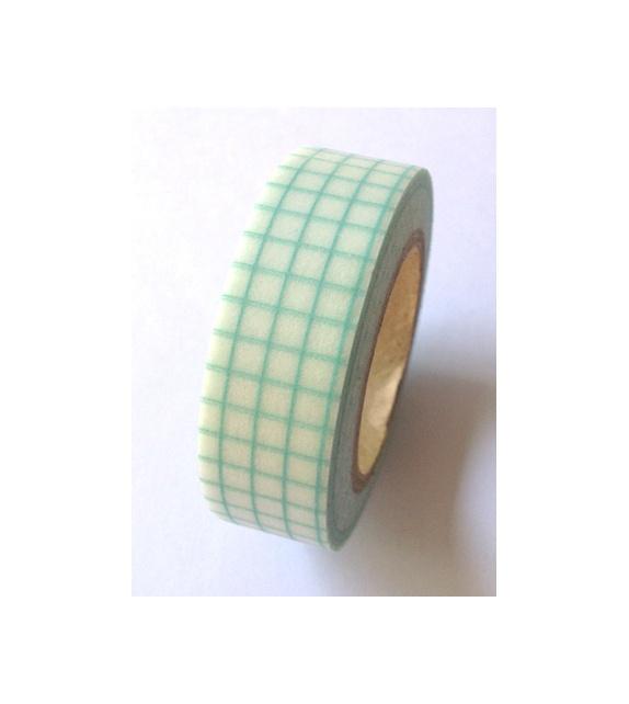 Masking tape - carreaux mint