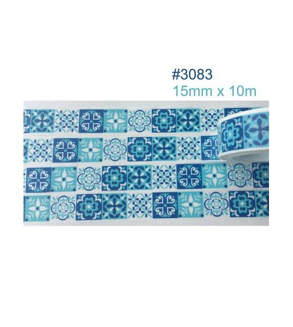 Masking Tape - mosaïque bleu marocain