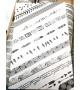 Masking tape - texte manuscrit en noir
