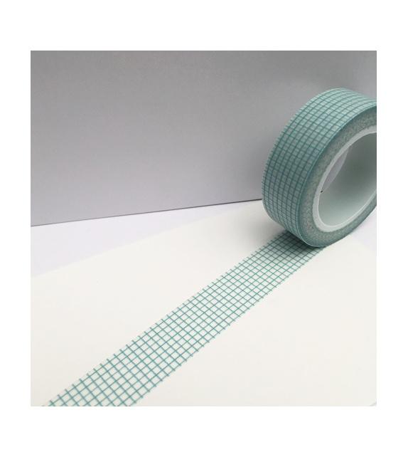 Masking tape - Petits carreaux bleu gris