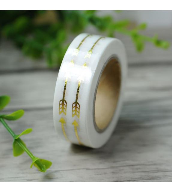 Masking Tape Foil Tape - Flèches or fond blanc