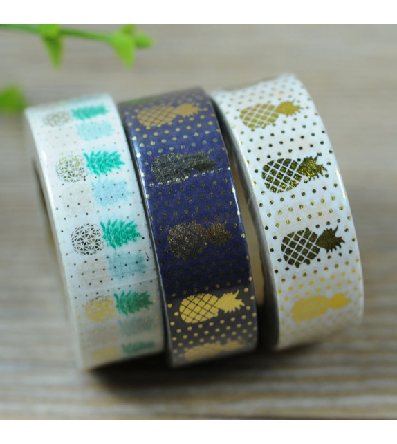 Solo Foil Tape - Pineapple - Gold & green