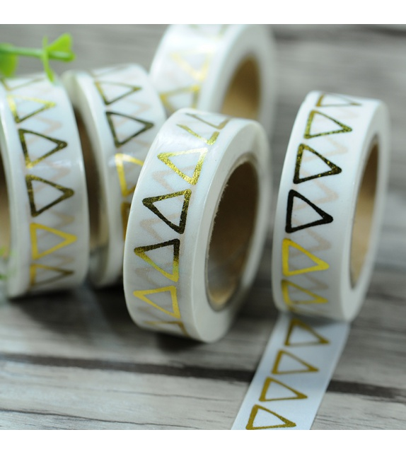 Masking Tape Foil Tape - Triangles or fond blanc
