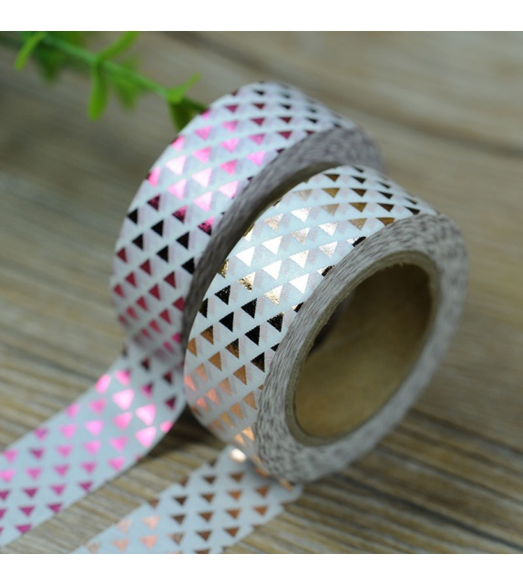 Masking Tape Foil Tape - petits triangles cuivre