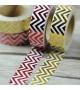Masking Tape Foil Tape - Chevrons dans la longueur - or