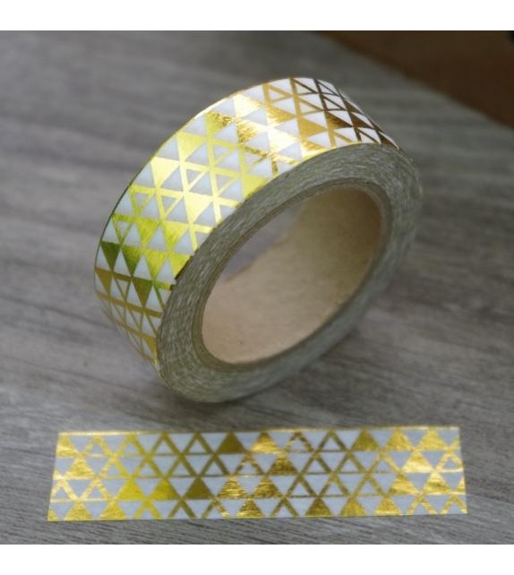 Solo Foil Tape - little triangles gold