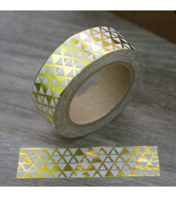 Masking Tape Foil Tape - motifs de petits triangles or