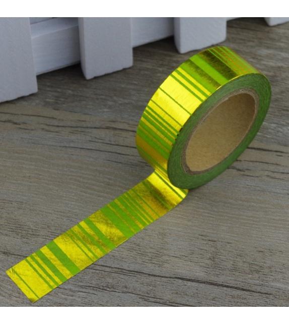 Solo Foil Tape - Traits verticaux or et vert