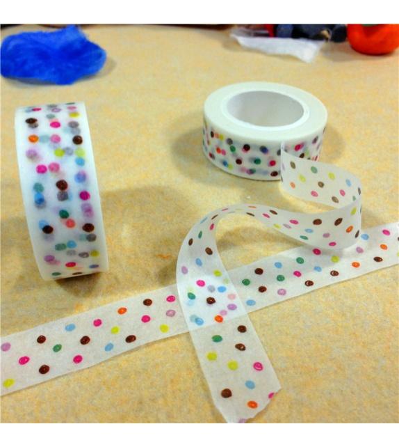 Masking Tape - Pois Confettis colorés