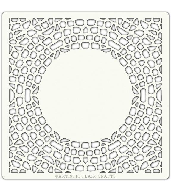 """Stencil 6""""x 6"""" - Mosaic Border"""