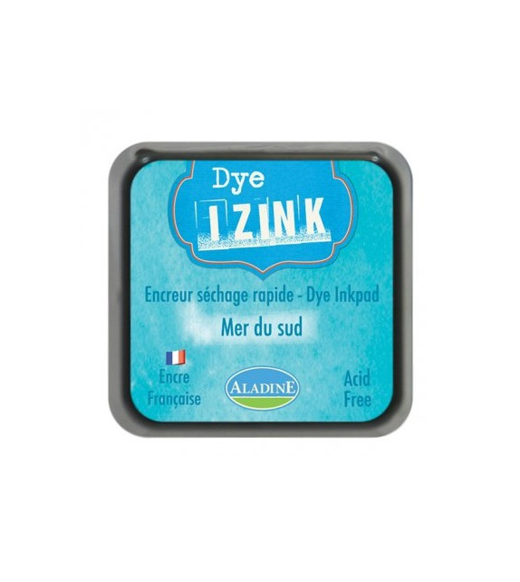 Encre Izink Dye - Bleu Mer du Sud