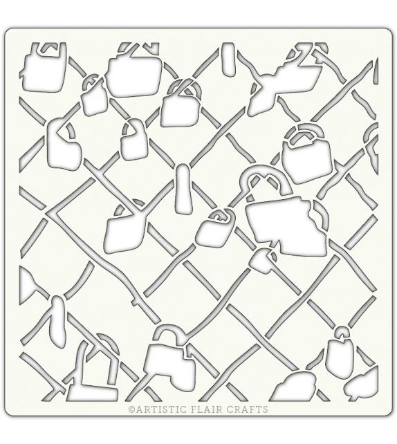 "Pochoir 6""x 6""- Cadenas (locked away)"