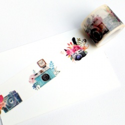 Masking Tape Large - Appareil Photo et fleurs