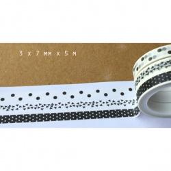 3 masking tape fins  - Motifs graphiques noirs