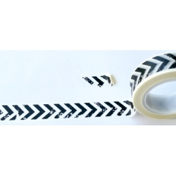 Masking Tape - Chevrons Flèches noirs vintage