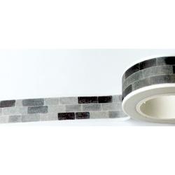 Masking Tape - Briques noires et grises