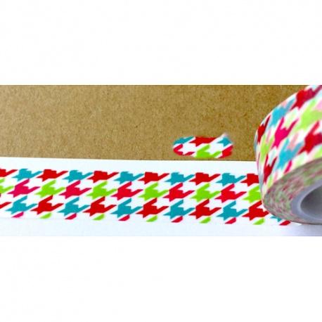 Masking Tape - Pieds de poule tricolores
