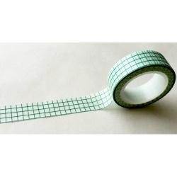 Masking Tape - Carreaux vert sapin