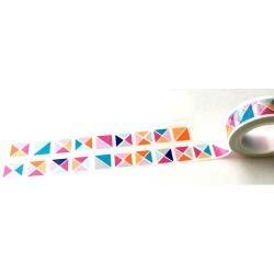 Masking Tape - Carrés et Triangles couleurs pop