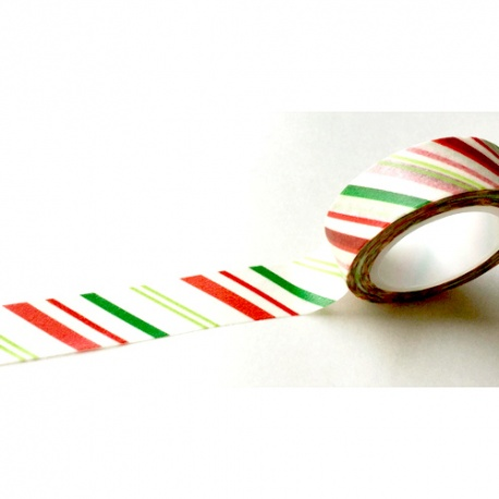 Masking Tape - Thin stripes red & green