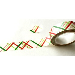 Masking Tape - Lignes croisées rouges et vertes