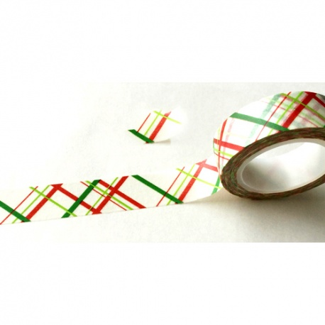 Masking Tape - Crossed Lines red & green