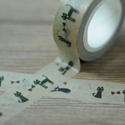 Masking Tape - Petits chats et noeuds