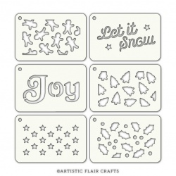 Set of 6 stencils - Festive Tabs