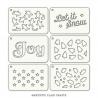 Set of 6 stencils - Festive Tabs