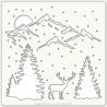 """Stencil 6""""x 6"""" - Winter Valley"""
