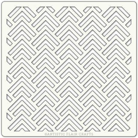 "Pochoir 6""x 6""- Chevron 2"