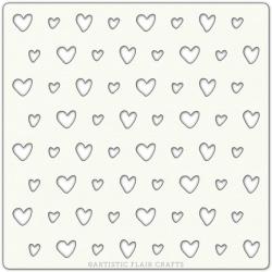 """Stencil 6""""x 6"""" - Scrappy Hearts"""