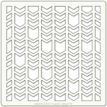 "Pochoir 6""x 6""- Chevron Segments"