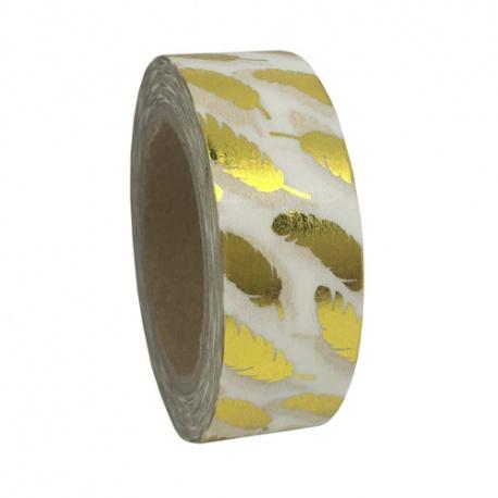 Solo Foil Tape - Golden Feathers