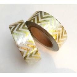 Masking Tape Foil Tape - Chevrons dans la longueur Or Holographique