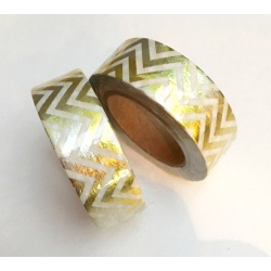 Solo Foil Tape - Chevrons in length gold holographic