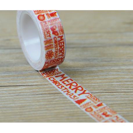 Masking Tape - Merry Christmas en rouge