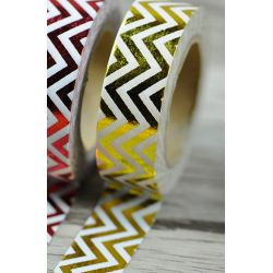 Solo Foil Tape - chevron in length gold