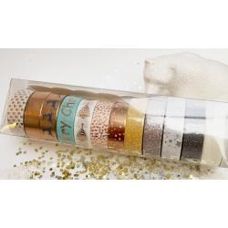 Box of Masking Tape by Lovely Tape - 12 rolls - Foil Tape & Glitter