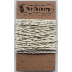 Cartonnette de Bakers Twine - Ecru et or