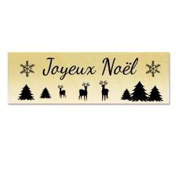 Tampon support bois - Joyeux Noël